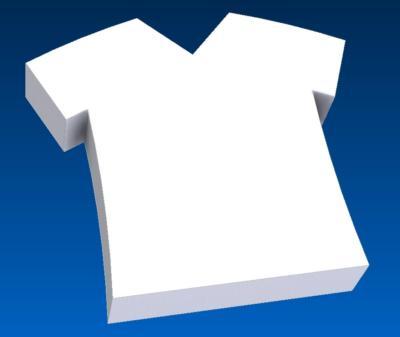 t-shirt cake dummy