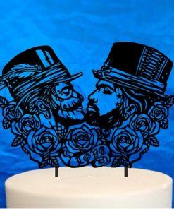 Goth Men Gay Wedding Topper