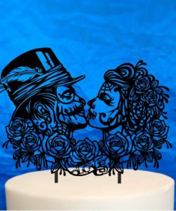 Gothic Wedding couple topper