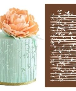 bamboo mesh cake stencil