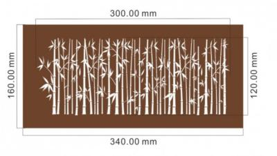 bamboo mesh stencil dimensions