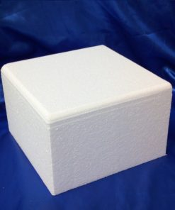 bevelled square cake dummy