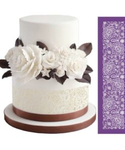decorated mesh stencil cake