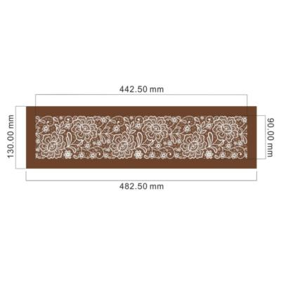 flower mesh stencil dimensions