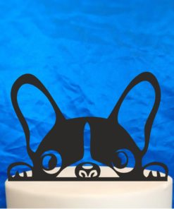 frenchie cake topper black