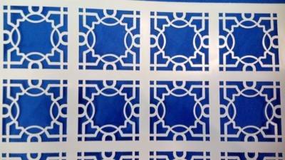 lattice stencil detail
