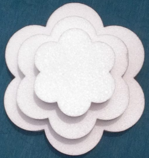 petal tier cake dummy