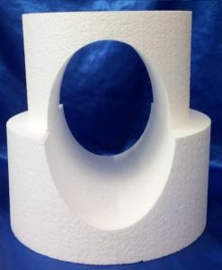 two tier with hole